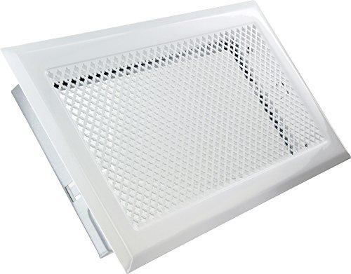 Grille d'aération cheminée - Blanc - 345 x 195 mm - DMO 730899