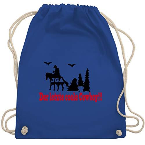 (JGA Junggesellenabschied - Der letzte coole Cowboy - Unisize - Royalblau - WM110 - Turnbeutel & Gym Bag)