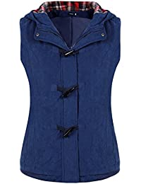 Finejo Women Autumn Winter Fashion Stylish Hooded Vest Gilet Jacket