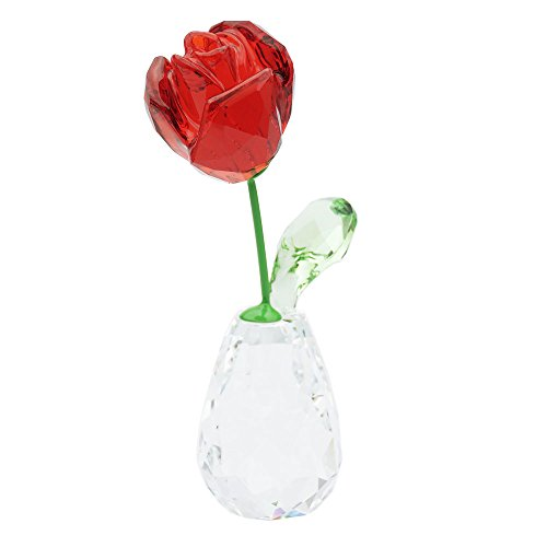 Swarovski fiore sogni della rosa rossa figura, cristallo,, 7.1x 2.1x 3.4cm