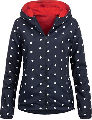 Hailys Damen Wende-Jacke Leslie Color-Block, mit Muster NX-1806041 red S -