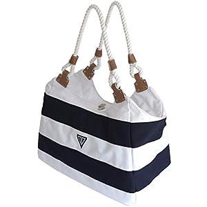 WildStage XL Strandtasche mit Reißverschluss – 45 x 24 x 36 cm – Hochwertige Schultertasche mit Innentasche…