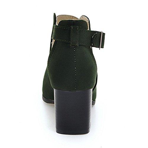 Blocco Scarpe Punta Modo Dell'involucro A Donne Verde Sandali Della Coolcept Pigolio Di Caviglia w1qxvnpz0B
