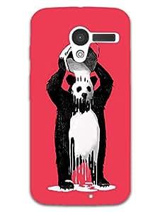 Moto X Back Cover - Panda Getting Bath - So Funny - Designer Printed Hard Shell Case