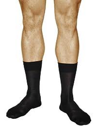 3 Pares Calcetines Finos y Respirables Hombre, 100% ALGODÓN MERCERIZADO, Vitsocks Clásico