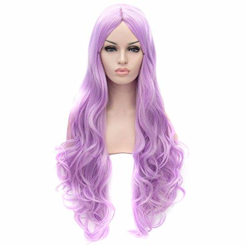 Dame De Mode Longs Ondulés Cosplay Parti Perruque Cheveux Synthétiques Complète Perruques Costume Lolita