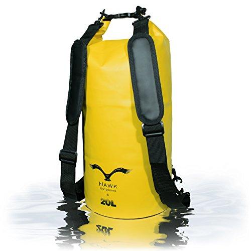 hawk-outdoors-dry-bag-wasserdichter-packsack-mit-gepolsterten-schulter-gurten-20l-stausack-seesack-b