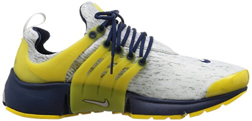 Nike Air Presto, Chaussures de Running Entrainement Homme Blanc / Jaune / Noir (Zn Gry / Gry-Zn Nvy Mid-Vrsty MZ)
