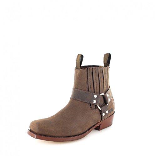 Buffalo Boots 6000 Brown/Damen und Herren Bikerstiefelette Braun/Biker Boots/Bikerstiefel, Groesse:44