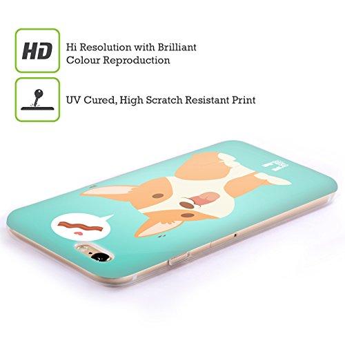 Head Case Designs Hello Vie D'un Corgi Étui Coque en Gel molle pour Apple iPhone 5 / 5s / SE Un Bacon