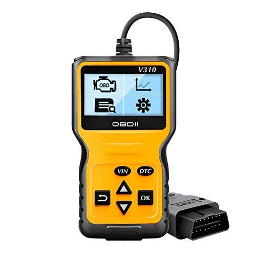 OBD2 Diagnosegerät, SoonCat Auto OBD II Diagnose Scanner arbeitet an Autos Fahrzeug-Fehlercodeleser mit OBD2 / EOBD/CAN-Modi für alle PKW mit 16-Pin OBD-II Schnittstelle und Batterie Test