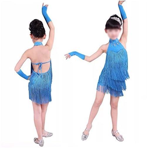 Italily-Vestiti da Ballo Latino delle Ragazze Vestiti da Ballo del Ballo della Sfera di Ballo del Vestito dalla Frangia Latina