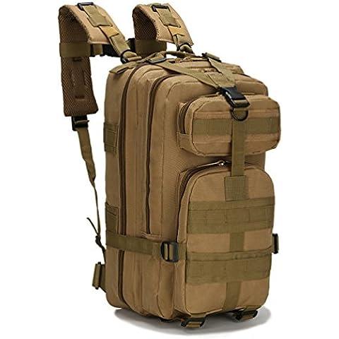 hmildyk Sport Outdoor Oxford Militare Tattico MOLLE Zaino da Campeggio Trekking Tan - Oversize Gear Bag