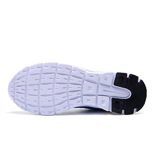 Hommes Chaussures de sport Le nouveau Mode Chaussures de course Formateurs Respirant De plein air Baskets Blue