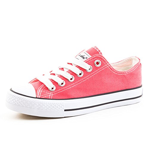 Marimo Damen Sneaker Low Top Schuhe Canvas Textil Coyal 37