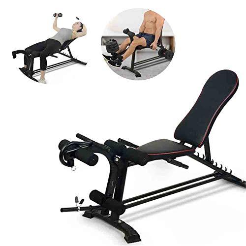 Verstellbare Fitness-Utility-Bank, tragbare stabile Sitzbank Fitness-Training Hantelbank, breitere Rückenlehne/Sitz, Fit Home Gym Schlafsaal Ganzkörpertraining