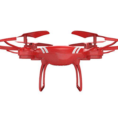 Prevently Drohne für Anfänger und Kinder,KY101 2.4G 4CH 6-Achsen-Gyro RC Quadcopter mit Fernsteuerung,Hover RTF Ohne Kamera (red)