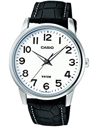 Casio Collection Herrenuhr Analog Quarz mit Echtlederarmband – MTP-1303PL-7BVEF