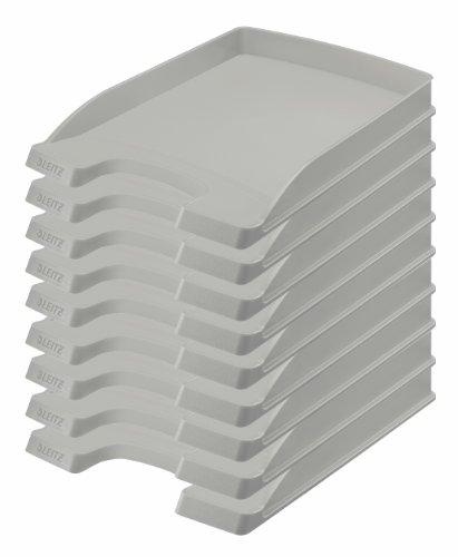 Leitz più-Vaschetta portacorrispondenza slim 35mm-Set di 10 Altezza 37 mm grigio