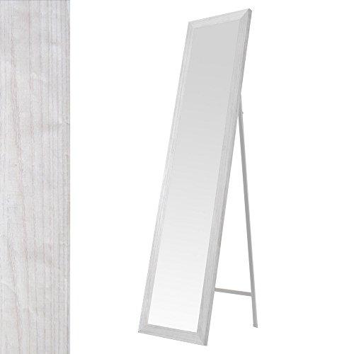 Espejo de pie nórdico blanco de madera para dormitorio de 37 x 157 cm Fantasy - Lola Home