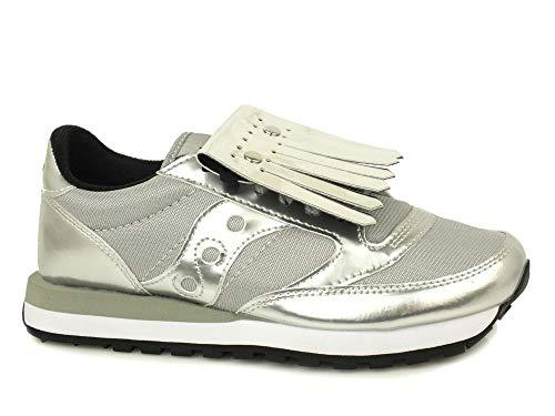 Saucony Sneakers Jazz Original in Pelle Metallizzata 1044 Silver
