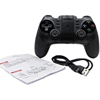 DoMoment Controlador de Juego inalámbrico, tamaño portátil inalámbrico Bluetooth Game Pad Game Controller Smartphone Joystick Adecuado para PS3 Win XP / 7/8/10