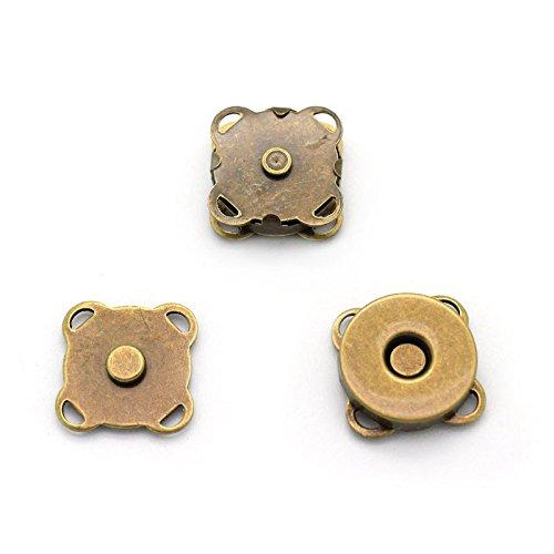 RUBY-10 conjuntos Cierre magnético para bolsos (15x15mm-B)