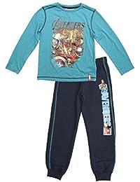 garçons Marvel Avengers manches longues T-shirt haut & Pantalon de jogging ensemble tailles de 4 pour 10 An