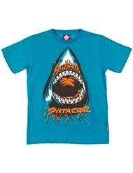 Santa cruz speed wheels t-shirt pour enfant shark Bleu Bleu eau
