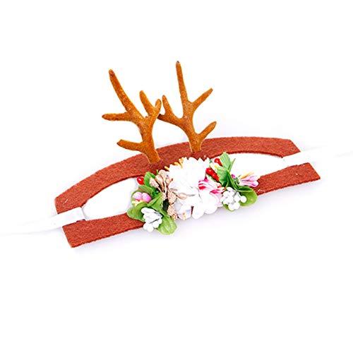ier Weihnachten Stirnband Feiertags-Weihnachten Halloween-Kostüm für Hunde, Katzen, Haarschmuck m Größe ()