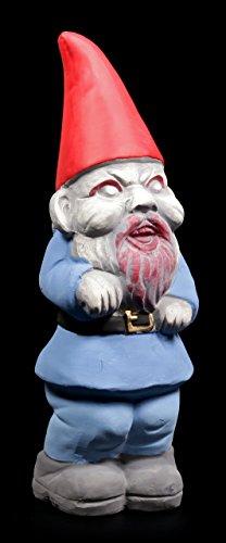 Zombie Gartenzwerg – Gnom blau – Figur Deko Gartenfigur Garten Zwerg - 2