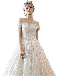 ef8557074 Vestido de novia encaje Vestidos de boda para la boda de hombro nupcial  vestidos de pelota