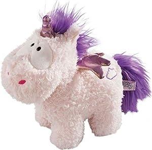 NICI Electronics Unicornio Cloud Dreamer, Peluche 32cm con Altavoz y Luces LED, Color Blanco y Morado, 32 cm (1)