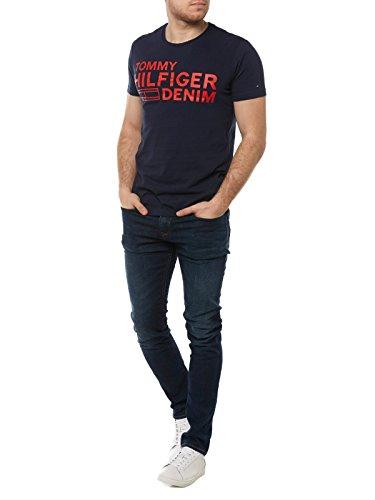Tommy Jeans Herren T-Shirt Blau (Black Iris 002)