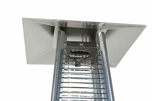 Heizstrahler Traedgard® Design Vesuvio Activa Cheops, mit Rollenset, Gastroset und SCHOTT Glasröhre - 5