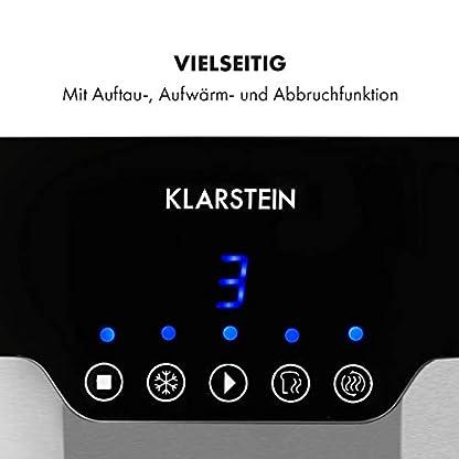 Klarstein-Arabica-Toaster-920W-Touch-Bedienfeld-LED-Display-Auftau-Aufwrm-und-Abbruchfunktion-Aufbackrost-Krmelschublade-Kabelaufwicklung-Edelstahl