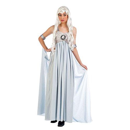 Sturmtochter Hochzeitskleid Mutter der Drachen Abendkleid Kostüm - L (Tron Halloween)