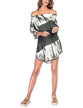 SALSA Vestido Camisero con los hombros al aire