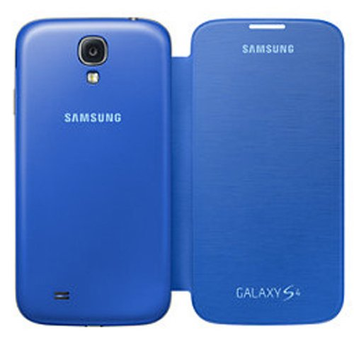 Samsung EF-FI950BCEGIN Flip Cover for Samsung Galaxy S4 (Blue)  available at amazon for Rs.599