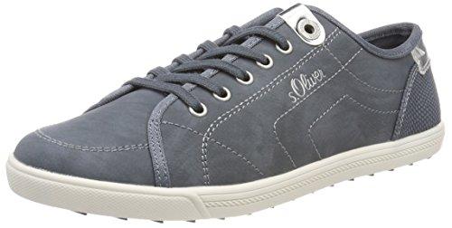 s.Oliver Damen 23631 Sneaker, Blau (Denim), 41 EU (Halbschuhe Denim)