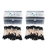 Fenteer 400 Pcs Tampone Cotone Bastone Cura Ferite Applicazioni Trucco Accessori