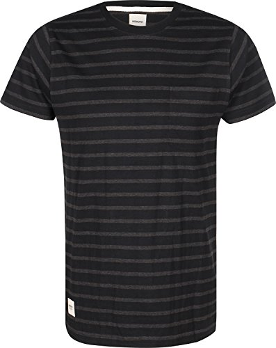 Wemoto Blake Stripe T-Shirt Schwarz Grau Gestreift