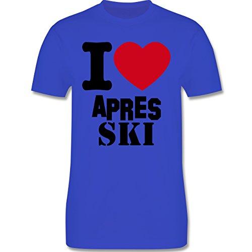 Après Ski - I Love Apres Ski - Herren Premium T-Shirt Royalblau