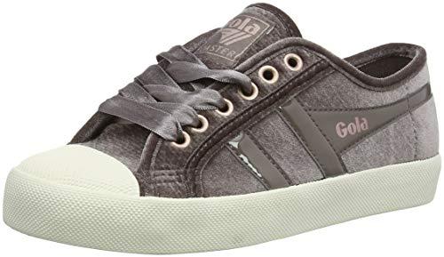 Gola Damen Coaster Velvet Sneaker, Braun (Mink/Off White GW), 40 EU -