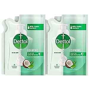 Dettol Aloe Coconut Foaming Handwash Refill, 200ml, Pack of 4, White