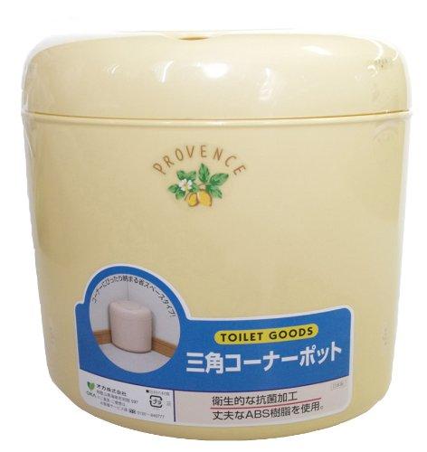 Coin toilette pot Provence jaune (japon importation)