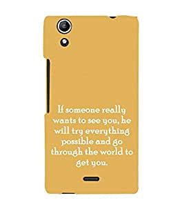 PrintVisa Designer Back Case Cover for Micromax Canvas Selfie 2 Q340 (Quote Love Heart Messages Crazy Express Sorry )
