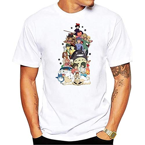 bbc1b8c11 Studio Ghibli t Shirt Men Anime T-Shirt Men Tops Boy Short Sleeve t-