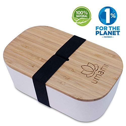 Umami Bento Box 1100ML de Fibra de bambú Blanca