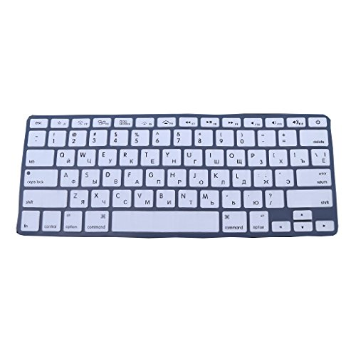 Russische Tastatur Silikon-Haut-Abdeckung für Apple MacBook Air Pro 13 15 Weiß ()